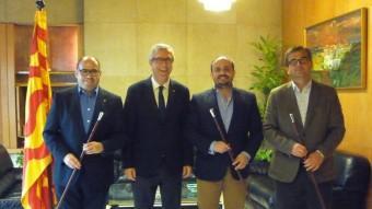 Josep Maria Prats, Josep F. Ballesteros, Alejandro Fernández i José Luis Martín, ahir Foto:C.F