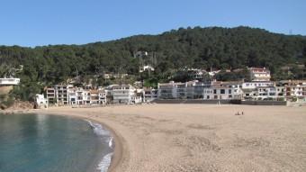 La sorra de la platja de Sa Riera, a Begur Foto:EL PUNT AVUI