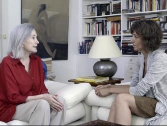 L'actriu Núria Espert explica a Agnès Marquès com al zenit de la seva carrera va quedar atrapada per la depressió. Foto:TV3