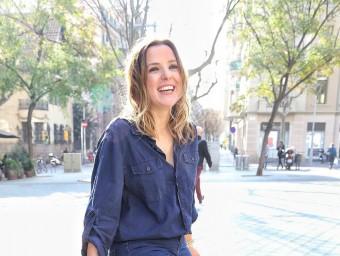 Patrycia Centeno a l'avinguda Diagonal de Barcelona Foto:ANDREU PUIG
