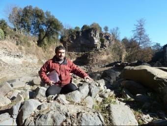 Planagumà és el geòleg que ha dut a terme els estudis després de la troballa de les protuberàncies del Molí Fondo. Foto:J.C