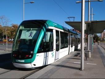 L'estació de Gorg, és l'origen de la línia T- 5 que uneix Badalona amb les Glòries de Barcelona passant per Sant Adrià. Foto:M.M