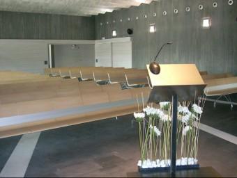La sala de cerimònies del Tanatori de Girona, del Grup Memora. Foto:DANI VILÀ