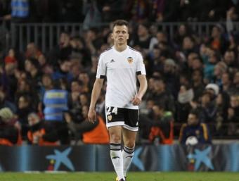 Txérixev, en un moment del partit de la copa al Camp Nou Foto:EFE