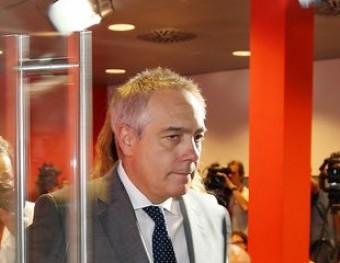 Pere Navarro, el juny del 2014, després d'anunciar que plegava de primer secretari dels socialistes Foto:ANDREU PUIG