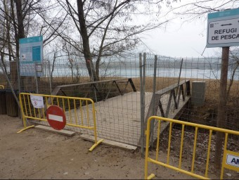 L'accés a la Caseta de Fusta , que estarà tancat mentre s'hi treballi. Foto:R. E