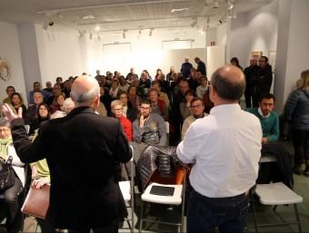 El regidor Ricard Pujol, a la dreta, i l'alcalde, Joan Martí, en la reunió de dimecres Foto:Q. PUIG
