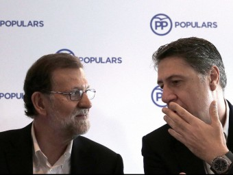 Mariano Rajoy i Xavier García Albiol a Barcelona Foto:EFE