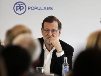 Mariano Rajoy aquest dissabte en la junta directiva del PP de Catalunya Foto:EFE