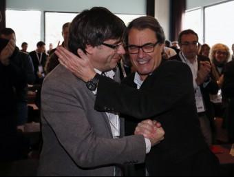 Carles Puigdemont i Artur Mas Foto:EFE