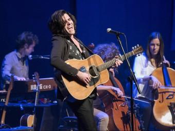 Xarim Aresté, en el concert de divendres, part del Barnasants Foto:J. LOSADA