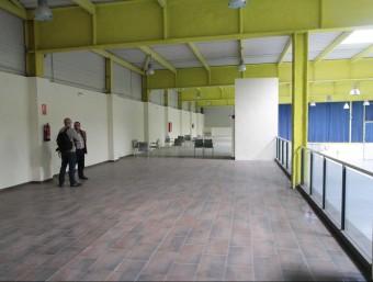 Els espais de l'altell del recinte firal que donaran cabuda al viver d'empreses Foto:E.A