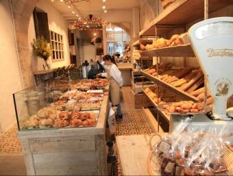 La botiga que Antiga Casa Bellsolà ha obert a la Plaça del Vi de Girona. Foto:JOAN SABATER