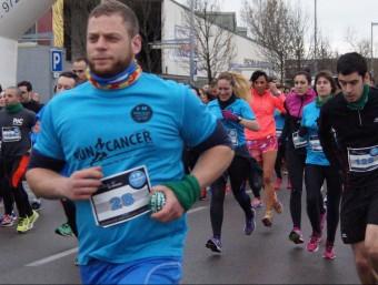 Alguns dels corredors que van participar ahir a Salt-Gironès.