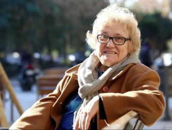 Isabel-Clara Simó, fa uns dies a l'Eixample de Barcelona Foto:ANDREU PUIG