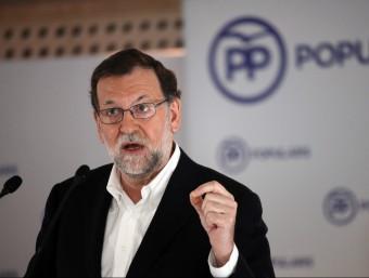 Mariano Rajoy, en l'acte dels populars catalans d'aquest cap de setmana Foto:ELISABETH MAGRE