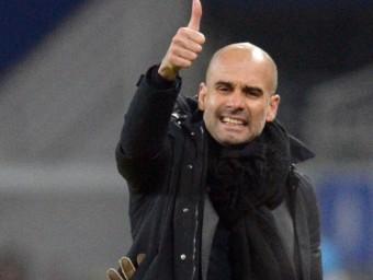 Guardiola, durant un partit. Foto:EFE