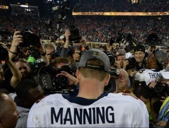 Peyton Manning, després de proclamar-se campió de la segona Superbowl Foto:AFP