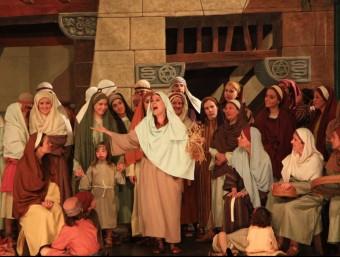 Els Pastorets de la Sala Cabanyes de Mataró són l'espectacle estrella de l'entitat, i ara enceten els actes del centenari. Foto:CLARA DE RAMON