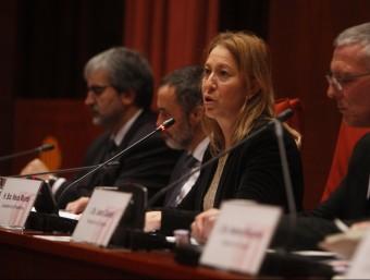 La consellera de la Presidència i portaveu del govern, Neus Munté, al Parlament Foto:ORIOL DURAN
