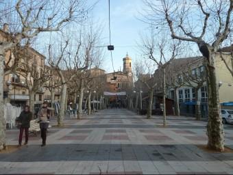 Una vista general del passeig del Firal, que ha perdut la centralitat d'anys enrere. Foto:J.C