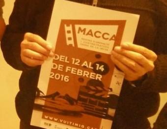 Carles Brucet, Pol Figueras i Josep Ferrer, ahir a la presentació de la Macca al Museu del Cinema de Girona Foto:J.C.L