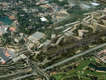 Imatge virtual del conegut com BCN World, amb tres complexos amb casino Foto:ARXIU