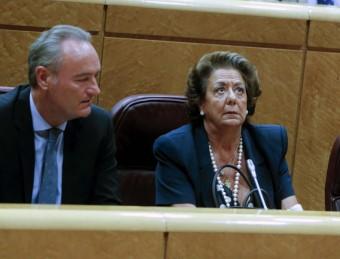 Els senadors Alberto Fabra i Rita Barberá. Foto:ARXIU