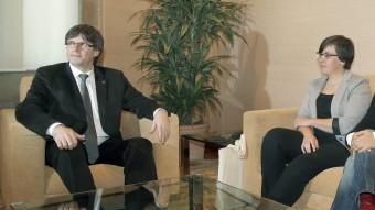 Puigdemont ha tancat la roda de converses amb els partits amb la CUP Foto:EFE