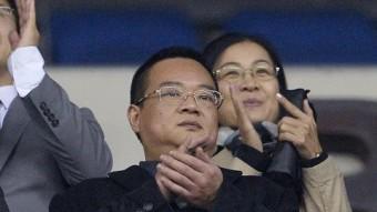 El propietari de l'Espanyol , Chen Yansheng. Foto:AFP