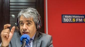 El cap de llista de la coalició Democràcia i Llibertat al Congrés, Francesc Homs en la seva participació de dilluns.