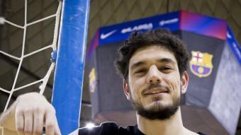 Marc Tolrà va tornar al Palau Blaugrana fa uns sis mesos Foto:A. SALAMÉ