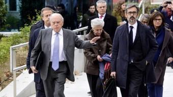 Jordi Pujol i Marta Ferrusola, arribant a l'Audiencia Nacional. Foto:AFP