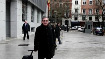 Jordi Pujol Ferrusola, sortint ahir de declarar a l'Audiencia Nacional Foto:EUROPA PRESS