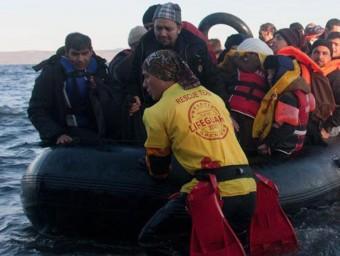 Samu Pérez, ajudant en les tasques humanitàries a Lesbos Foto:S.P
