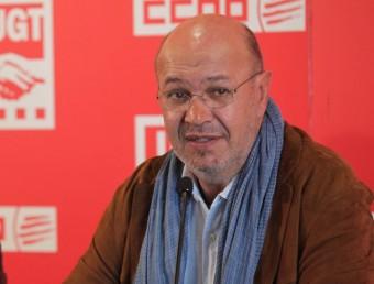 Joan Carles Gallego , secretari general de CCOO, ha anul·lat l'agenda dels pròxims dies per un accident lleu Foto:J. FERNÀNDEZ