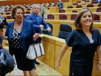 L'exalcaldessa de València, Rita Barberá el dia que va jurar la Constitució al Senat. Foto:AGÈNCIES