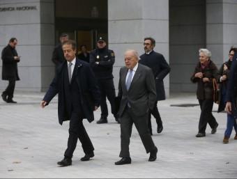 Pujol i Ferrussola, arribant a l'Audiència Nacional Foto:REUTERS