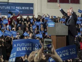 El senador Bernie Sanders, ahir a Concord, Nou Hampshire efe