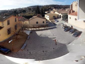 La plaça de Sant Miquel, al centre de Teià, s'urbanitzarà amb la proposta que decideixi la ciutadania. Foto:AJUNTAMENT
