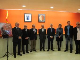 Els participants ahir en la presentació de la candidatura