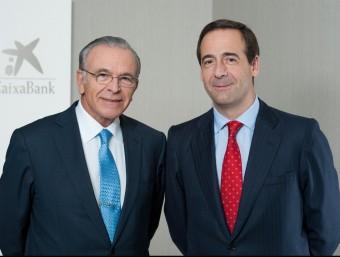 El president de CaixaBank, Isidre Fainé i el conseller delegat de l'entitat, Gonzalo Cortázar Foto:EPA