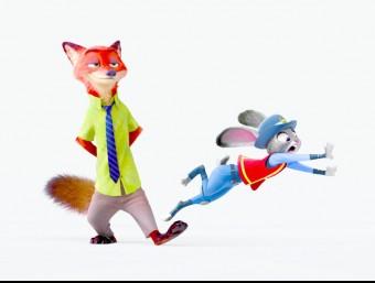 Nick Wilde i Judy Hopps són els protagonistes de la pel·lícula Foto:DISNEY