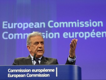 DImitris Avramopoulos, eurocomissari d'Immigració, ahir a Brussel·les Foto:EFE