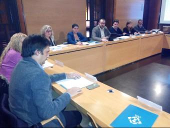 El plenari del Consell Econòmic i Social de Mataró reunit ahir a la tarda a l'Ajuntament Foto:LL.M