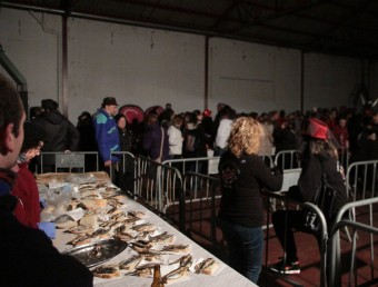 L'enterrament de la sardina, ahir, a l'antiga Agglotap de Sant Feliu Foto:E.A