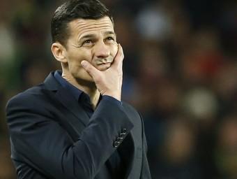 Constantin Galca, reflexiu en un partit d'aquesta temporada. Foto:EFE