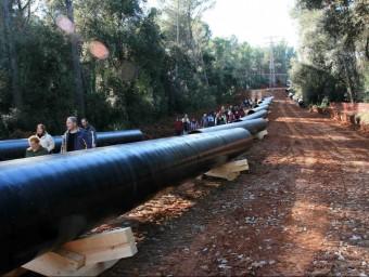 Una passejada popular a les obres del primer tram del gasoducte fa uns anys arxiu