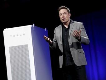 Elon Musk, conseller delegat de Tesla, en una conferència a Califòrnia Foto:P.T.F. / REUTERS
