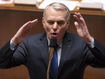 Jean-Marc Ayrault , nou ministre d'Afers Estrangers, durant un debat parlamentari celebrat a París quan era primer ministre francès Foto:IAN LANGSDON / EFE